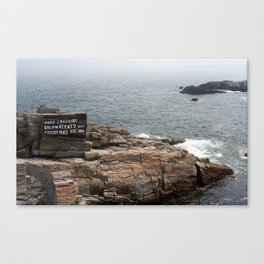 Shoreline and Shipwreck - Portland, Maine 2004 Canvas Print