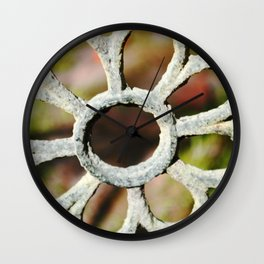 Metalic Flower Wall Clock