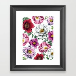 Where Wild Roses Grow Framed Art Print