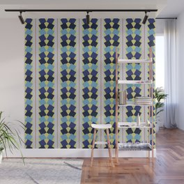Fanned Squares Wall Mural