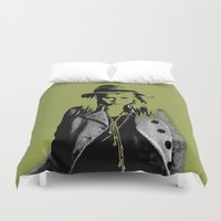 grumpy Duvet Covers featuring Grumpy  by OhShizz