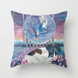 Dances with the terns Throw Pillow