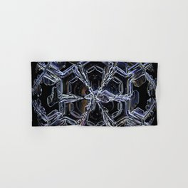 Water as a Crystal, pattern snowflake art on leggings and more! Hand & Bath Towel