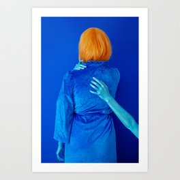 lissy as me (blue study) Art Print