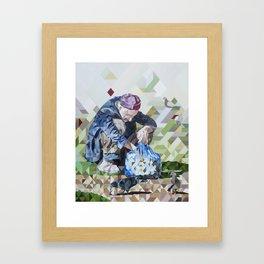 Las Palomas Hambrientas, The hungry doves Framed Art Print