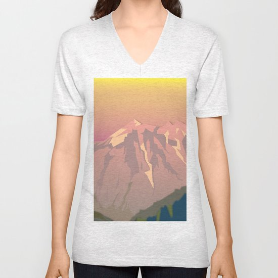 Night Mountains No. 47 Unisex V-Neck