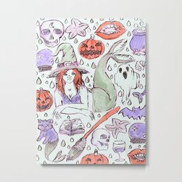 halloween mermaid Metal Print