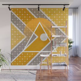 Fish - triangle sunset Wall Mural