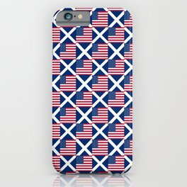 Mix of flag: usa and scotland iPhone Case