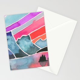 Dramatic Sky Watercolor Painting Stationery Cards