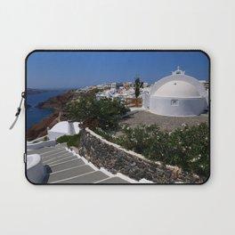 A Santorini Church Laptop Sleeve