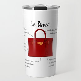 Anatomy of a Birkin Bag Travel Mug