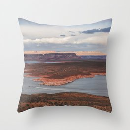 Cutting Through Lake Powell Throw Pillow
