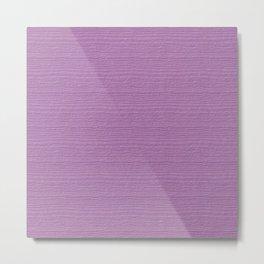 Violet Tulle Wood Grain Color Accent Metal Print