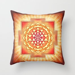 Sri Yantra XVI.I Throw Pillow