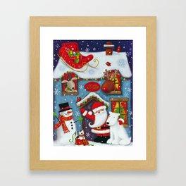 Santa's House Framed Art Print