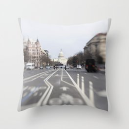 In the Streets of DC Throw Pillow