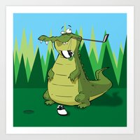 golf Art Prints featuring Golf  by Tony Vazquez