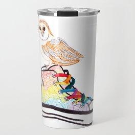 Owl on sneaker Travel Mug