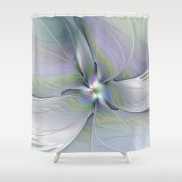 Rising Up, Abstract Fractal Art Shower Curtain