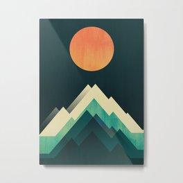 Ablaze on cold mountain Metal Print
