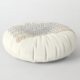 the queen of overthinking Floor Pillow