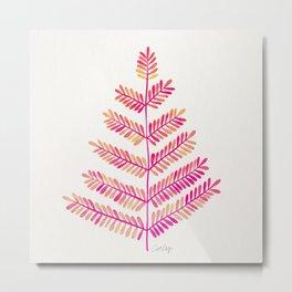 Leaflets – Pink Ombré Palette Metal Print