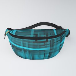 Black and blue abstract Fanny Pack
