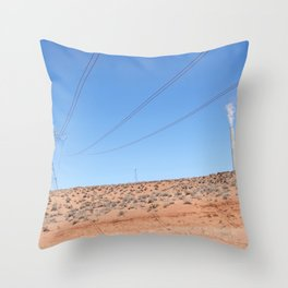 The Pinks and Blues of Antelope Canyon 01 Throw Pillow