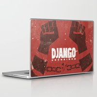 quentin tarantino Laptop & iPad Skins featuring Django Unchained -  Quentin Tarantino Minimal Movie Poster by Stefanoreves