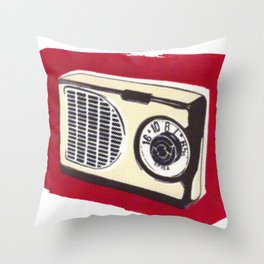 Radio I Throw Pillow