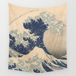 Under the Wave off Kanagawa Wall Tapestry