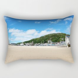 House By The Sea | Seaside Photography Rectangular Pillow