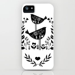 Danish Birds Of Good Luck And Good Life iPhone Case