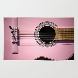 Pink guitar Rug