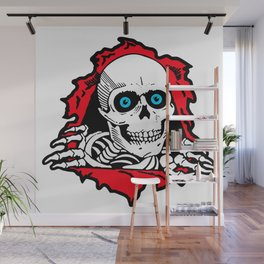 SKULL GIVE A SURPRISE Wall Mural