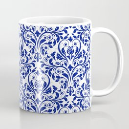 Blue Damask   Coffee Mug