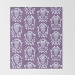 Trilobite's Damask -- Purple Throw Blanket