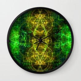Magical Celtic Clover Wall Clock
