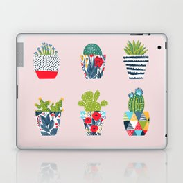 Funny cacti illustration Laptop & iPad Skin