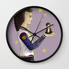My little world is you Wall Clock