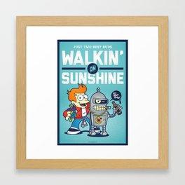 Walkin' on Sunshine Framed Art Print