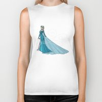 elsa Biker Tanks featuring Elsa by Eva Duplan Illustrations
