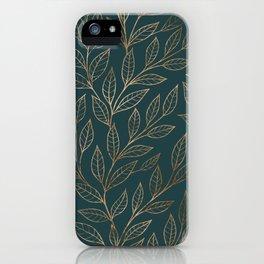 Botanical Pattern - Bronze N7 iPhone Case