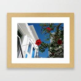 Mykonos Blooms Framed Art Print