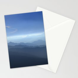 Blue dreams. Misty mountains Stationery Cards