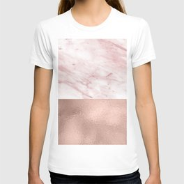 Luxe rose gold marble duo T-shirt