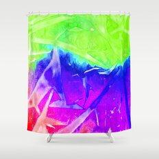 Aurora 3 - Green Sky Shower Curtain