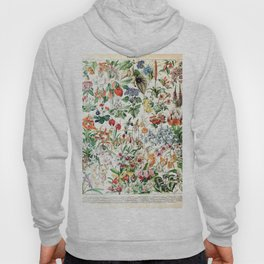 Adolphe Millot - Fleurs D - French vintage poster Hoody