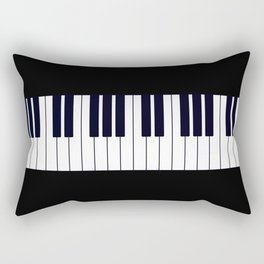 Piano Keys - Black and white simple piano keys pattern minimalistic music themed artwork Rectangular Pillow